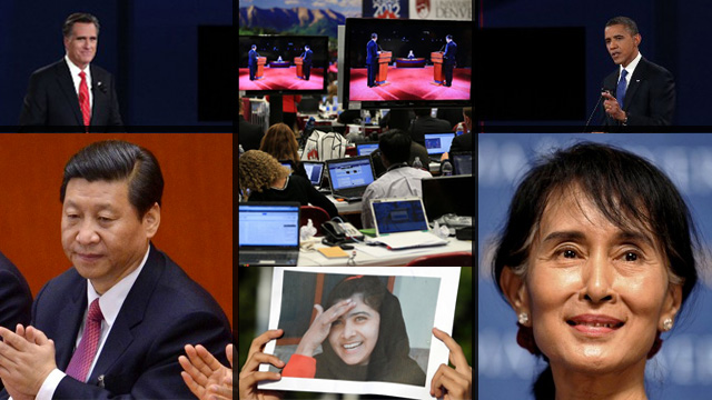The world in 2012: Transition. Images courtesy of the Agence France-Presse.