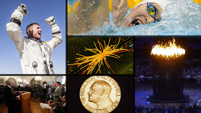 The world in 2012: Triumph. Images courtesy of the Agence France-Presse.