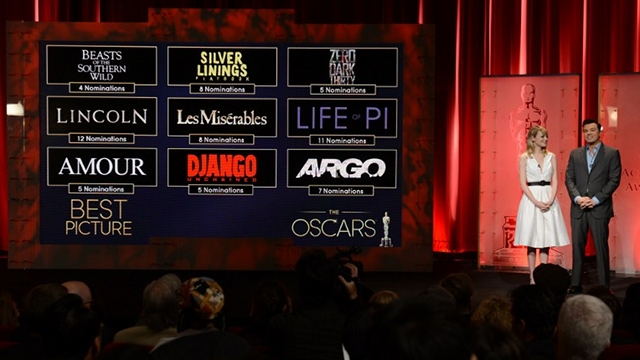 AWARDS SEASON CULMINATION. The Oscars will cap off the 2013 Awards Season in Hollywood on February 24 (US time). Photo by AFP
