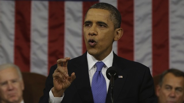 POLICY. President Barack Obama delivers the State of the Union Address in this file photo by AFP