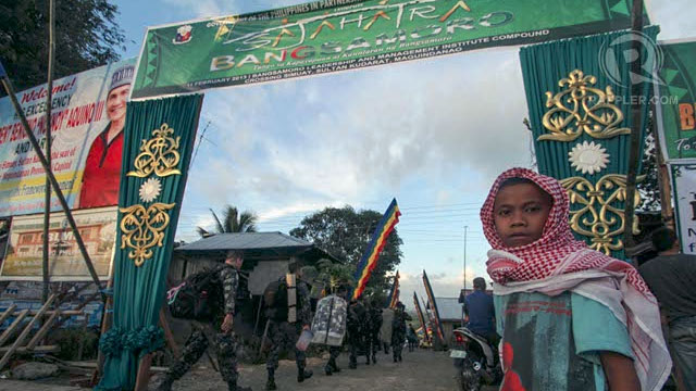 NO COMMENT. The main camp of the MILF in Maguindanao. Photo by Karlos Manlupig
