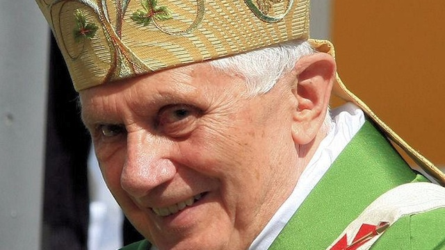 RELIGION CORRUPTIBLE? Pope Benedict XVI in a file photo from Facebook