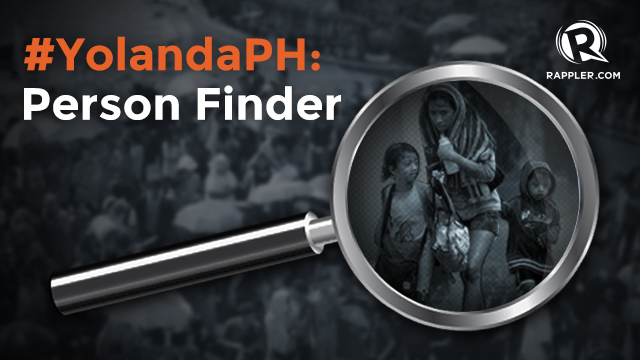 #YolandaPH Person Finder: Looking For Friends, Relatives