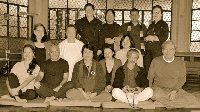 A SOUVENIR PHOTO OF some participants of a sesshin. Photo provided by Ada Javellana Loredo