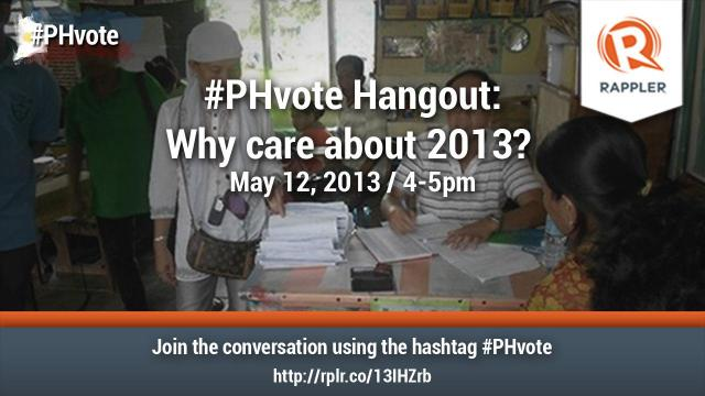 #PHvote Hangout: Why care about 2013?