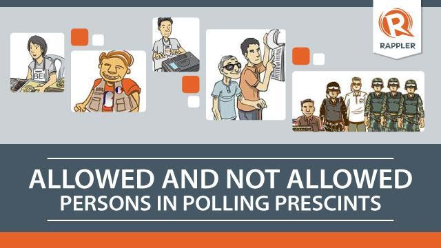 INFOGRAPHICS: Persons allowed, not allowed in poll precincts