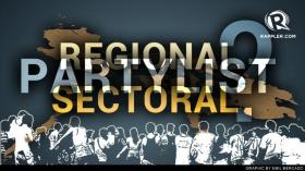 Sectoral? Party list votes come from reg'l bailiwicks