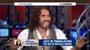 Russell Brand gets back at rude news anchors