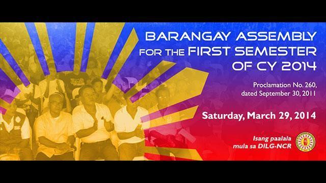 Barangay assenbly minutes