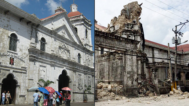 Before And After An Earthquake