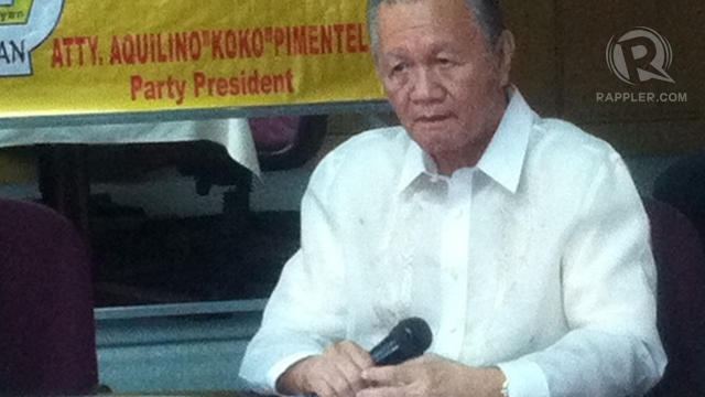 "BAD BLOOD? Jose ""Peping"" Cojuangco says there is no bad blood between him and his nephew, President Benigno Aquino III."