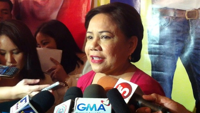 THANKFUL. Former Las Piñas Rep Cynthia Villar told reporters she is grateful for El Shaddai's endorsement. File photo by Rappler/Carmela Fonbuena