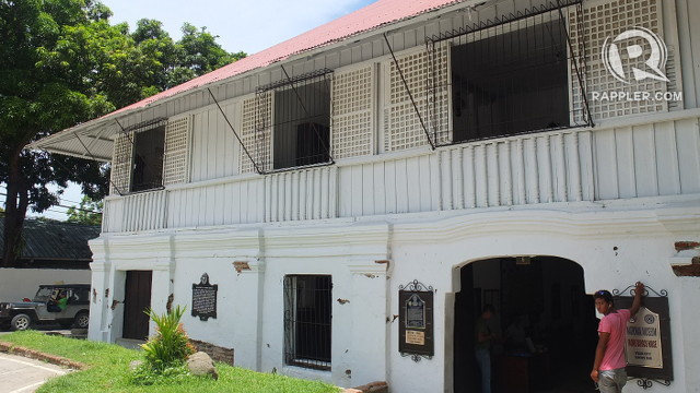 HOME OF A HERO. Father Jose Burgos grew up in this bahay na bato (house of stone)