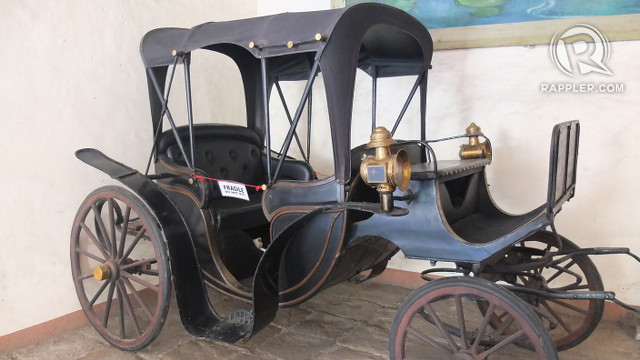 MODES OF TRANSIT. This carriage is parked at the ground floor of the mansion