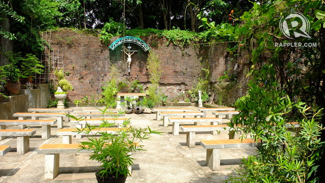 MASS AT THE RUINS. A chapel adjacent to the main church still welcomes the faithful