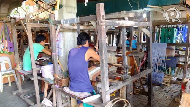 ARTISTRY. Abel loom weavers at Rowilda's Loom Weaving focus on their work