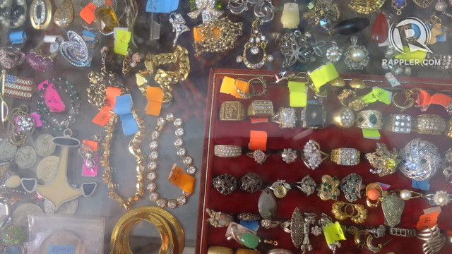 VINTAGE JEWELRY. Precious and semi-precious jewelry, many of them former heirlooms, are sold in Lucy Chan's Antique House