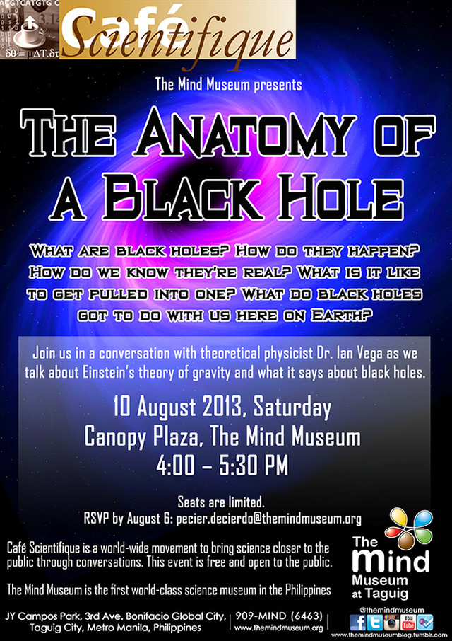Caf Scientifique The Anatomy Of A Black Hole