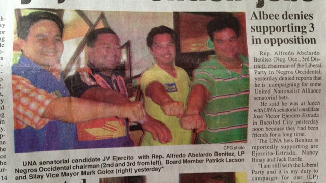Photo of the Visayan Daily Star April 16 issue
