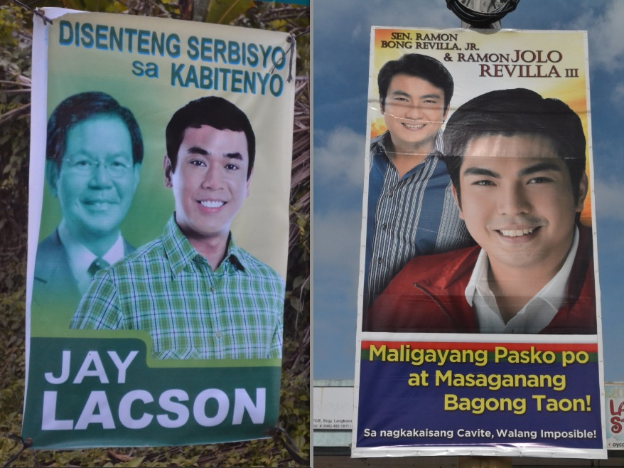 BATTLE OF FAMILIES. The 2013 gubernatorial race is also a clash between Cavite's political families. Photo by RAPPLER