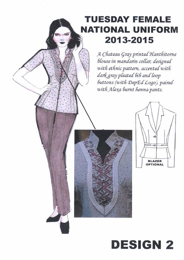 Teacher's uniform for SY 2013-2015