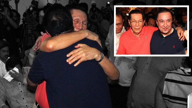 DAD TO THE RESCUE: UNA senatorial bet brings back his father Senate President Juan Ponce Enrile to the campaign. Photos from Jack Enrile's Facebook page
