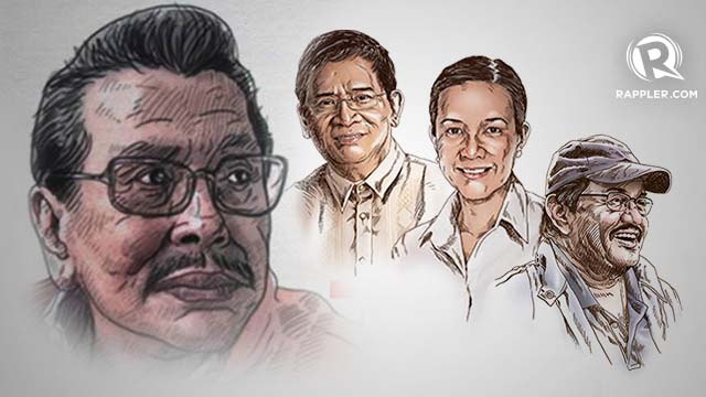 ERAP'S BETS. Former President Joseph Estrada goes beyond political affiliations in endorsing independent senatorial candidates Eddie Villanueva, Grace Poe and Edward Hagedorn.
