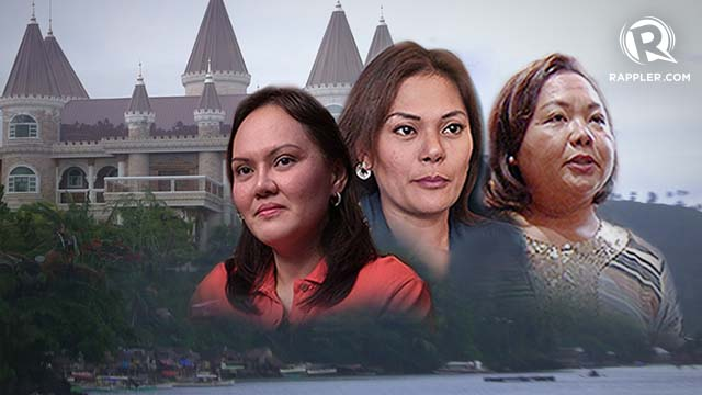 ECLEO VS ECLEO. In her battle to wrest control of the province from her family, Jade finds an ally in Akbayan representative Kaka Bag-ao (far right), who also acts as Dinagat caretaker representative.