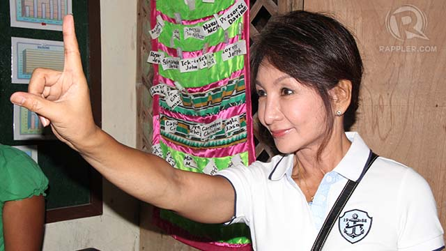 OPTIMISTIC. The suspended Cebu governor also cast her vote. Photo from her staff