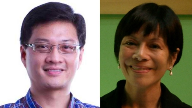 TENSE WEEK: Liberal Party neophytes Toby Tañada and Regina Reyes fight for their seats in the House of Representatives
