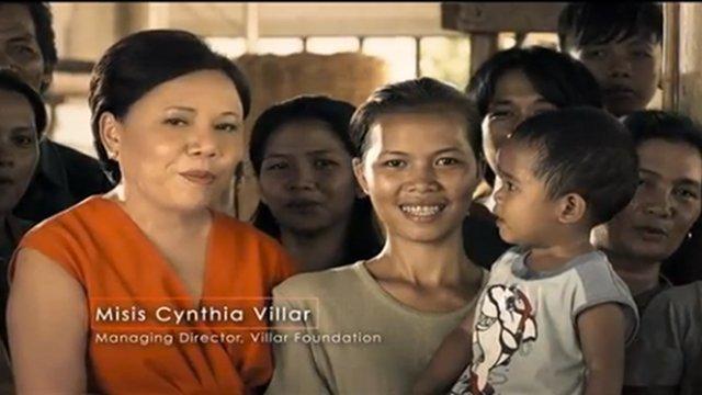Screenshot of Cynthia Villar's political ad