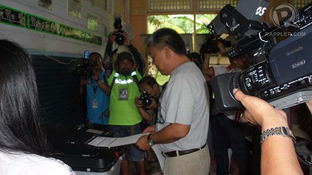 LP BET. Davide voted in his hometown of Argao in Cebu's 2nd district. Photo from his Facebook page