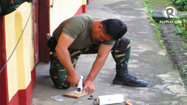 INSTALLATION. CCTV cameras were installed in major voting precincts in Lanao del Sur. Photo from the 1st Infantry (Tabak) Division of the Philippine Army