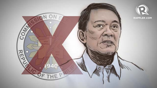 'WITH DEEP REGRET.' Ex-poll lawyer Macabangkit Lanto declines his Comelec appointment. Graphic by Teddy Pavon