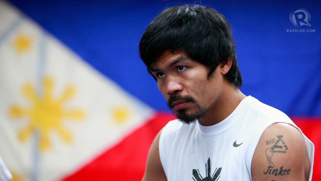 VOTE-BUYING. Pacquiao and his supporters were accused of vote-buying. Photo by John Javellana.