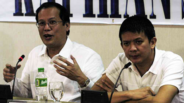 FRIENDS: Then Senator Benigno Aquino III with Senator Francis Escudero (SENATE FILE PHOTO)