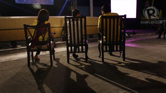 Hontiveros, Poe and Aquino. Photo by Raymund Amonoy