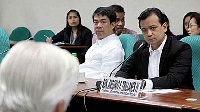 SURVEY LEADERS: Re-electionist senators Aquiliino Pimentel III and Antonio Trillanes IV are in the administration's 2013 shortlist (SENATE FILE PHOTO)