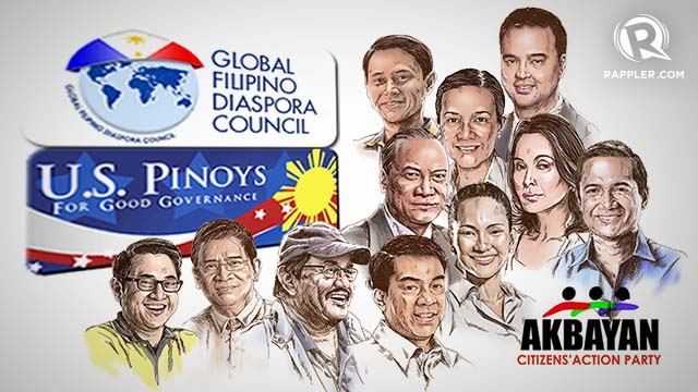 US Pinoys for GOod Governance and the Global Filipino Diaspora Council endorse their candidates