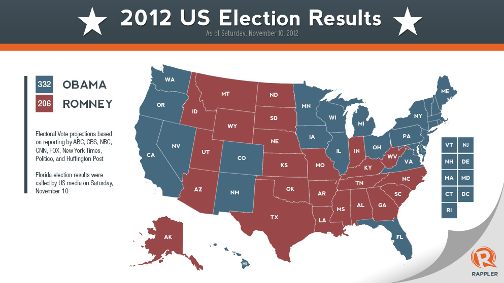 INFOGRAPHIC US Electoral Map - Us map by electoral vote