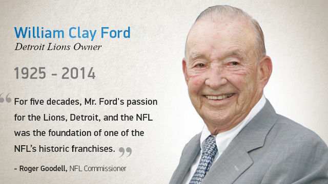 1964: William Clay Ford Buys Detroit Lions Franchise