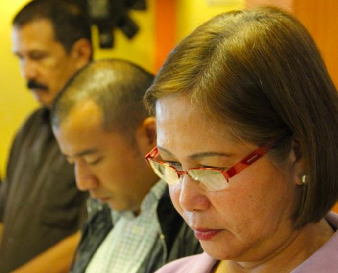 NACIONALISTA BETS. (From right) Dapitan City Vice Mayor Patri Chan, Rep Seth Frederick Jalosjos, and gubernatorial bet Rep Cesar Jalosjos. Photo by Gualberto Laput