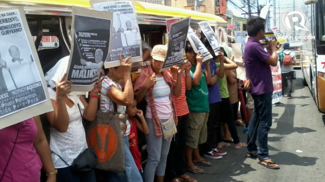 ANTI-MALIKSI. BAYAN Cavite rallies in Imus, Cavite against Ayong Maliksi. Photo by Tricia Villaluz