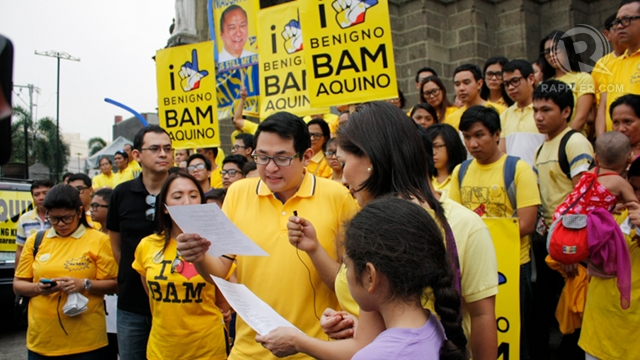 YOUNGEST SENATOR? Bam Aquino is only 35 as he launches his Senate bid. Photo by Don Regachuela