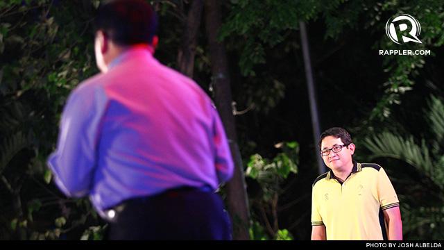 AN AQUINO MAKES IT. Bam Aquino with Richard Gordon at the Rappler Debate