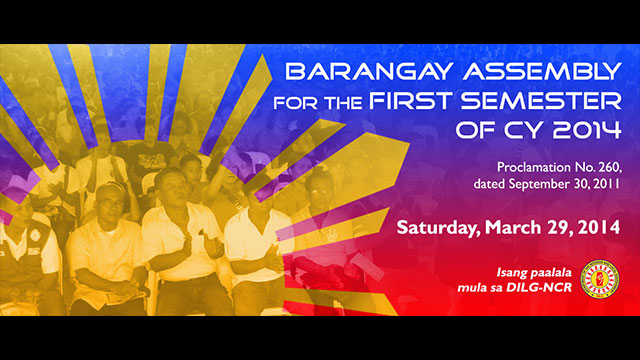 Citizens wanted: Attend your barangay assembly day