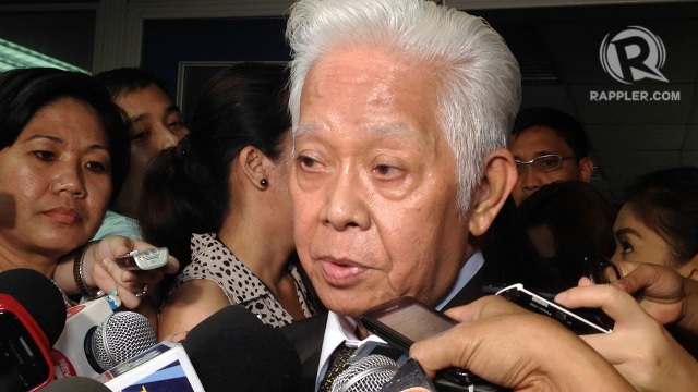 TURNING EMOTIONAL. Comelec Chairman Sixto Brillantes Jr delivers the week's most dramatic lines as he considers resigning over Supreme Court decisions against the poll body. Photo by Rappler/Paterno Esmaquel II
