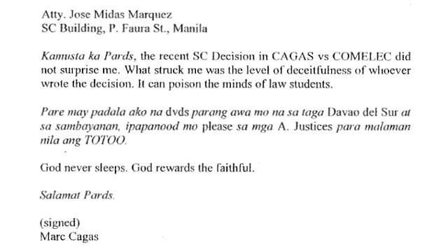 SC ExDavao del Sur solon cited for contempt