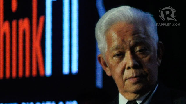 HOPEFUL. Comelec Chairman Sixto Brillantes, Jr at the #ThinkPH summit on Friday, August 23. Photo by Leanne Jazul
