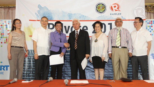 REAL-TIME DATA. In a memorandum of agreement, the Comelec allows Rappler to access real-time election results data.